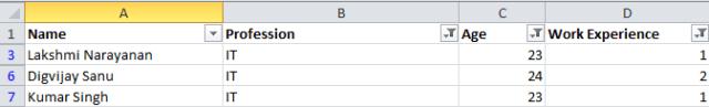 Manual prioritization using Excel